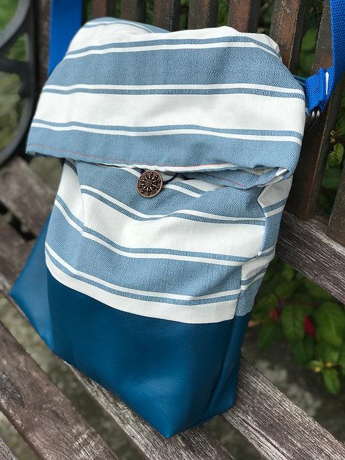 Blue Beach Sack Bag