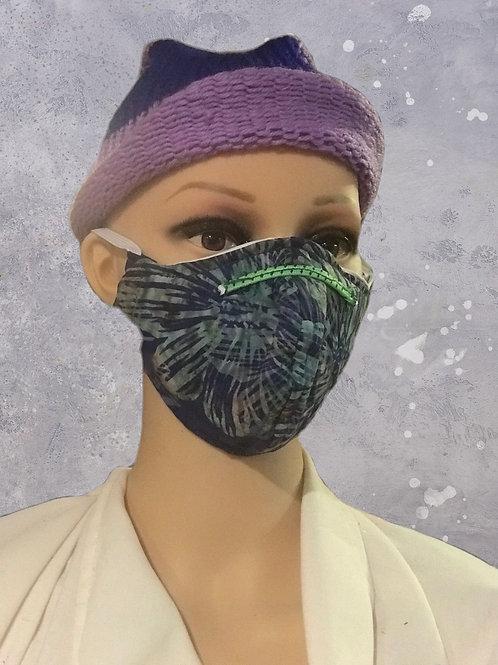 Tropical Flower filtered face mask