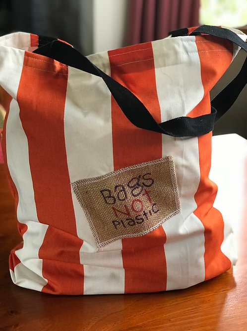 Summer Orange - Bags Not Plastic® (large patch)