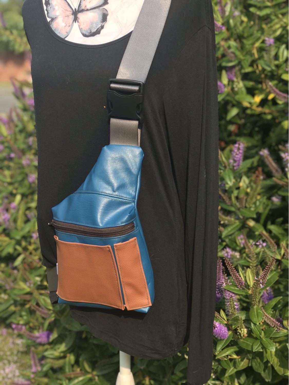 Thumbnail: Tan slice-Sling Bag