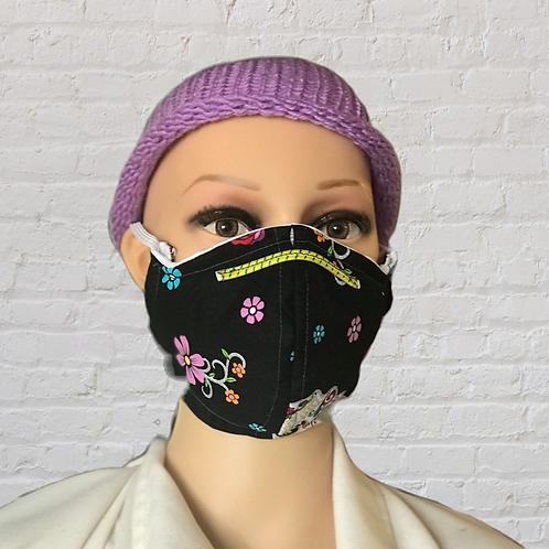 Skulls & Flowers filtered face mask