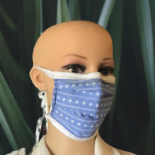Summer flower filter tie mask