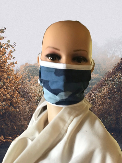 Blue Camo filter tie mask