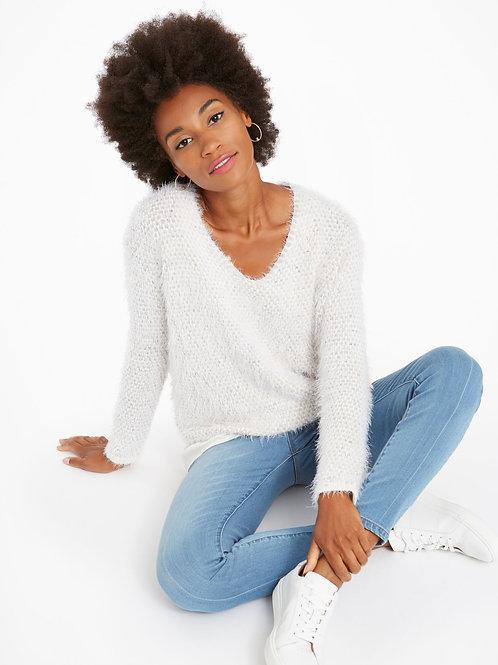 Nic+Zoe Fluff Sweater, Neutral Mix