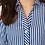 Thumbnail: Foxcroft Paityn Stretch Non-Iron Stripe, Evening Blue