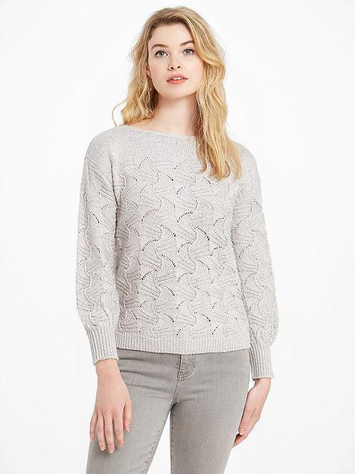 Nic+Zoe Glitters Sweater, Silverstone