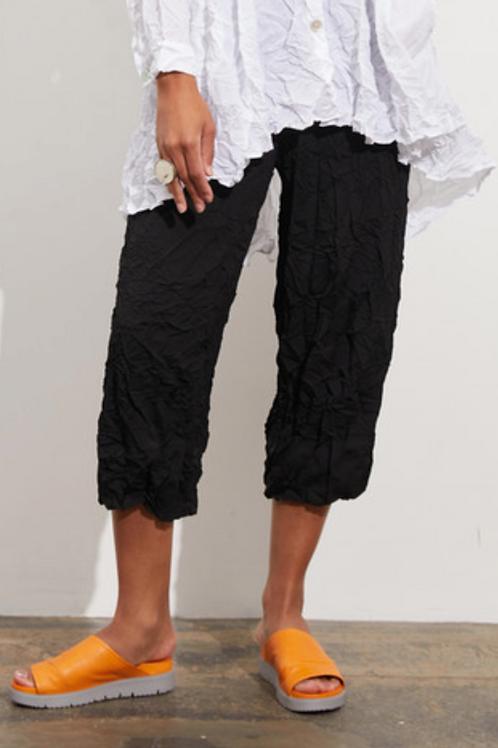 LIV Illusion Crinkle Seamed Ankle Pant, Black