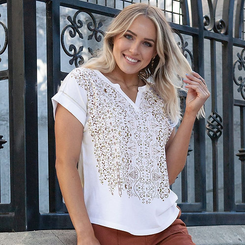 AVENTURA, Flynn Top, White