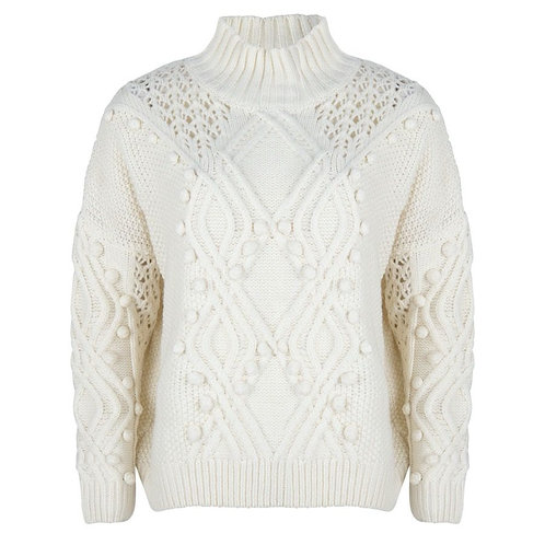Esqualo solid 3D sweater, Off White