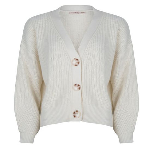 ESQUALO, V-neck Short Cardigan, Off White