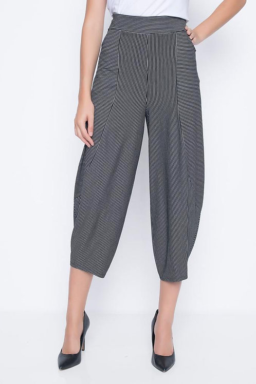 PICADILLY, Draped Striped Pants WithPockets