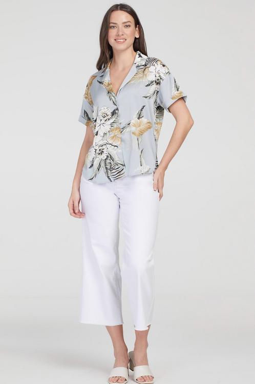 TRIBAL Button Up Front Blouse, Desert Print