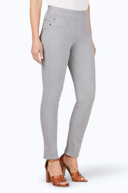 Foxcroft Uptown Pull On Stretch Jean, Silver