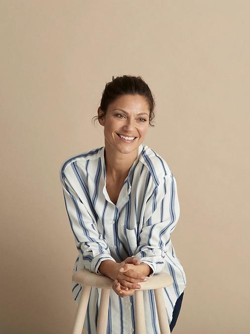 MASAI Striped Ivana Shirt, Blue/White