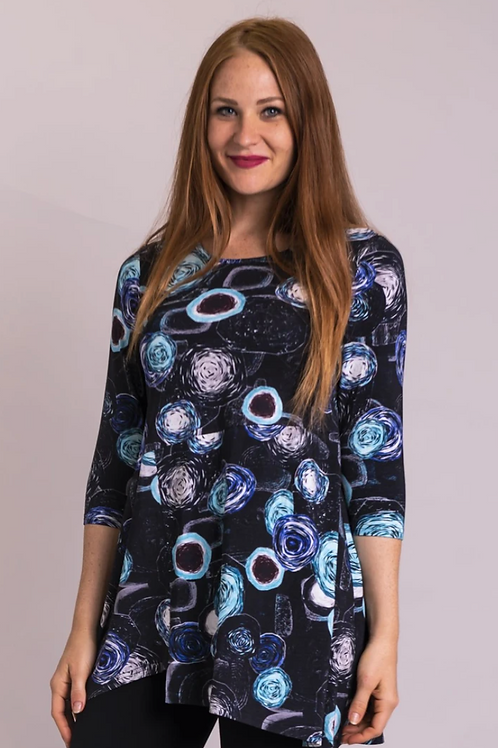 BLUE SKY Charming Tunic, Teal Bubbly