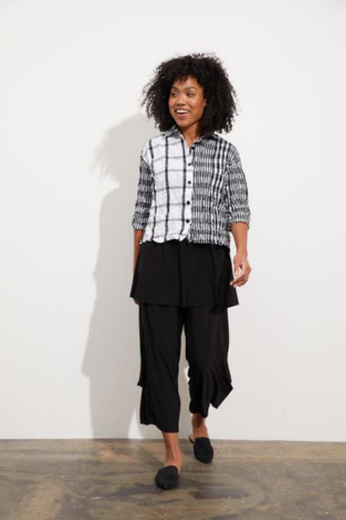 LIV Scrunched Tory Shirt,  black/white