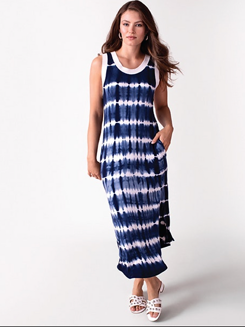TRIBAL, Sleeveless Tie-Dye Jersey Dress