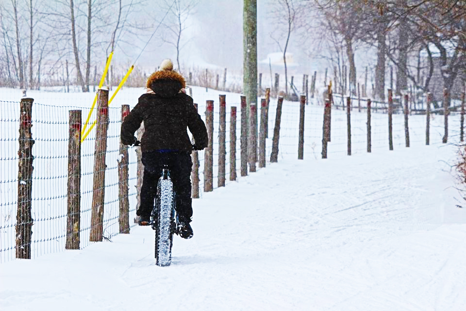 Fat bike lors de la Fête d'hiver