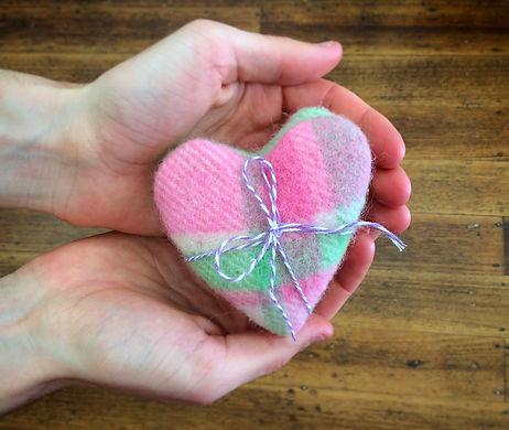 Heart shaped hand warmers