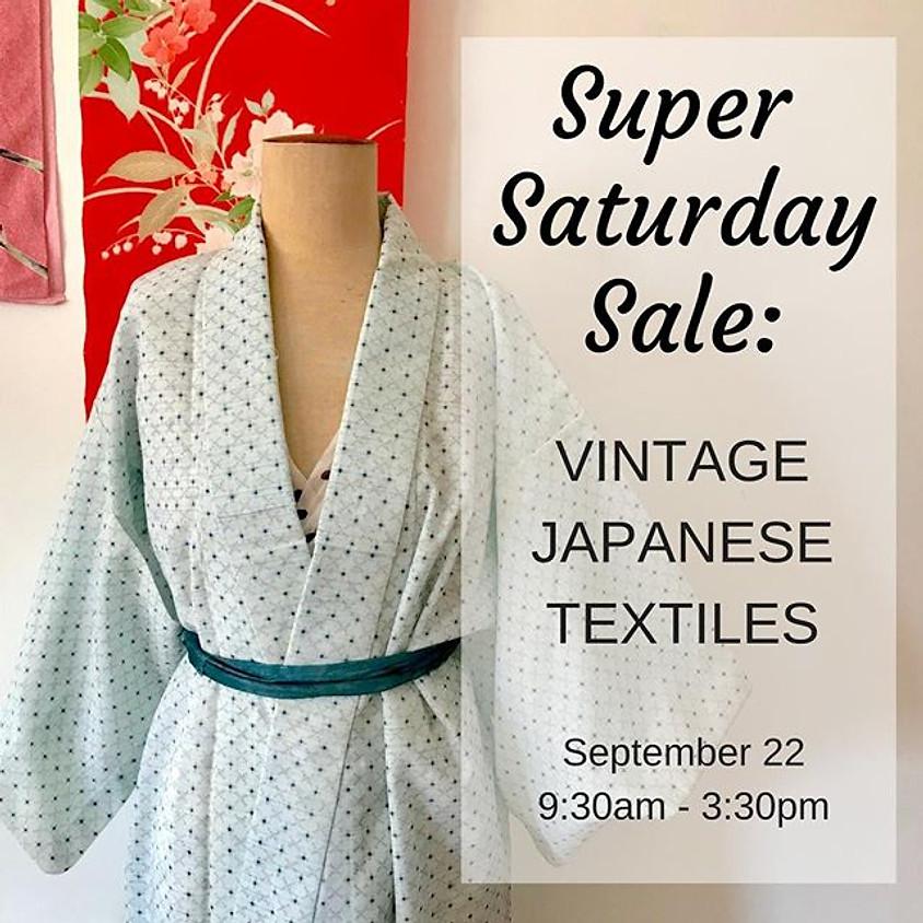 Super Saturday Sale: Vintage Japanese Textiles