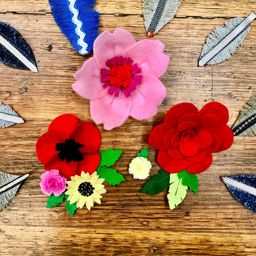 Mothers' Day: Handmade Flowers and Feathers