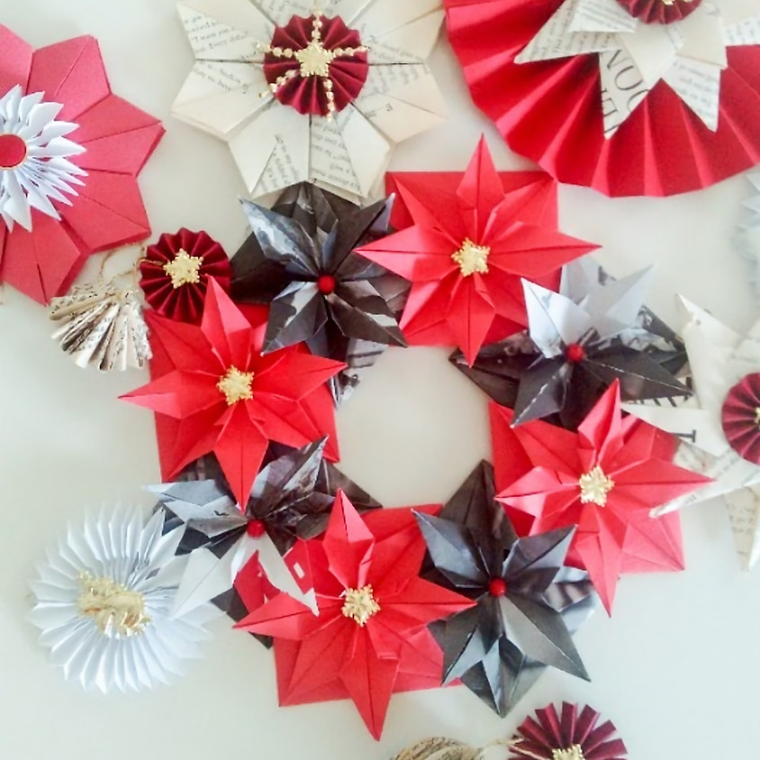 Paper Xmas Decorations using recycled materials