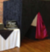 Our photo booth set up