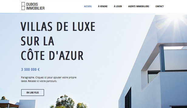 Immobilier website templates – Agence immobilière luxe