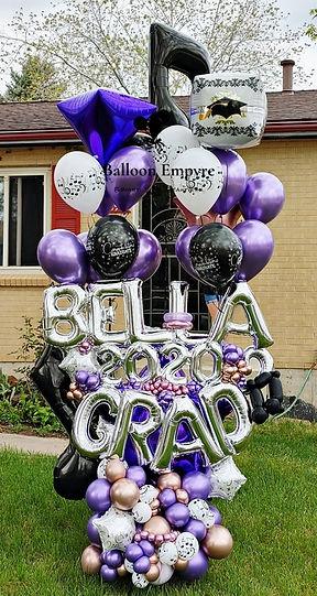 graduation balloons denver music decorations delivery helium grad