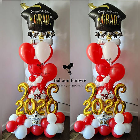 way to go balloons grad graduation balloon delivery denver red white cap