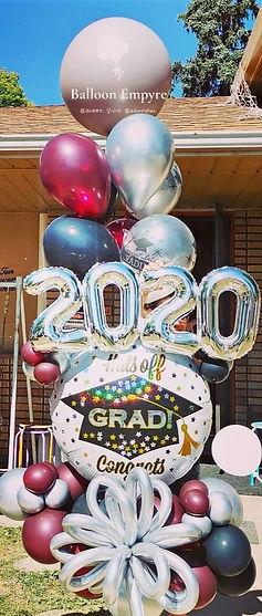 graduation balloons helium delivery denver colorado garland helium garland