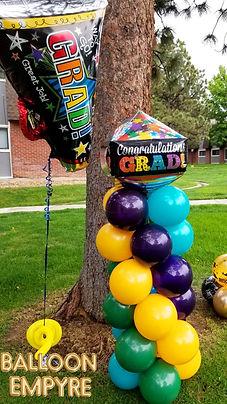 graduation balloon column denver delivery