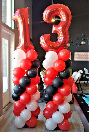 balloon columns red black white denver delivery balloons