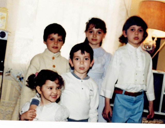 Andrew with cousins