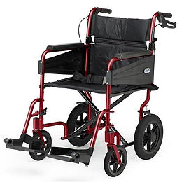 Escape Wheelchair, Transit Attendant Propelled, Standard, Ruby Red Code: PAT-091556893