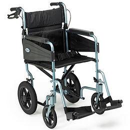 Escape Wheelchair, Transit Attendant Propelled, Standard, Silver Blue Code: PAT-091171727