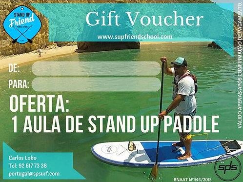 VOUCHER 1 AULA DE STAND UP PADDLE