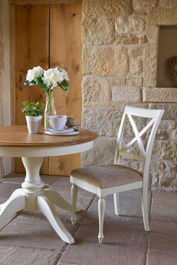 Circular Table & Upholstered Chairs