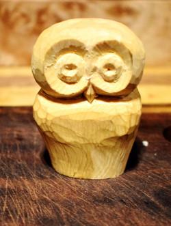 Yellow Cedar Barred Owl for Eddie