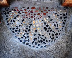 pebble mosaic entryway @ snail shell