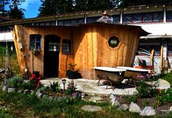 snail shell sauna