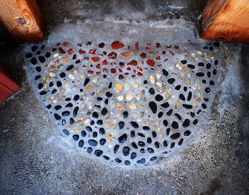 Entryway Pebble Mosaic