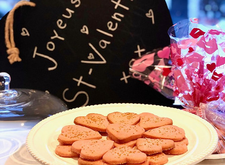Biscuits St-Valentin avec les petits