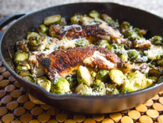Crispy Chicken and Brussels Sprouts