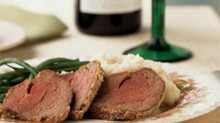 Horseradish and Mustard Crusted  Beef Tenderloin