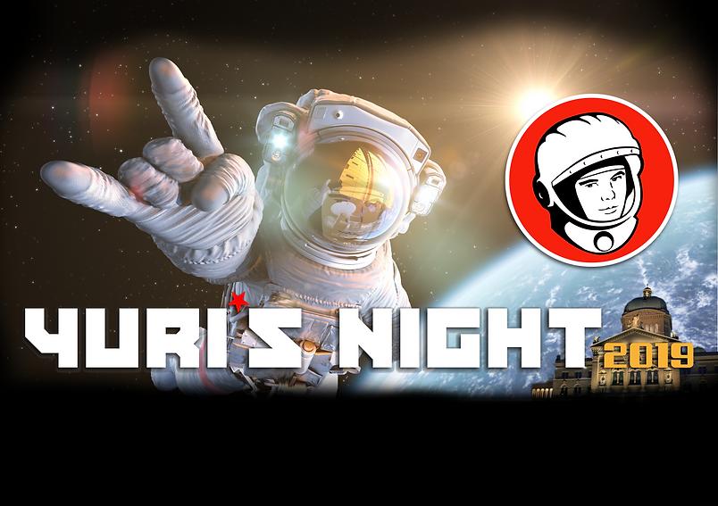 Yuri's Night Switzerland 2019_Poster by