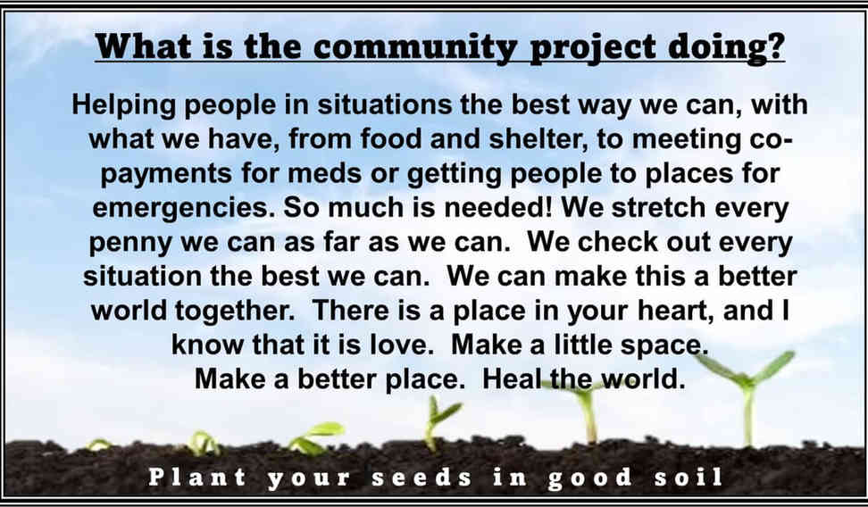 Community Project Message