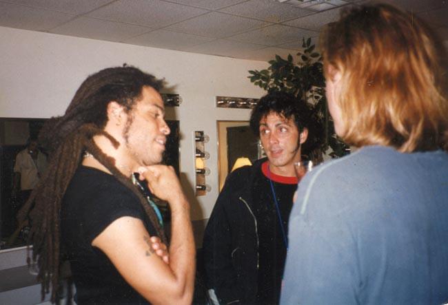 Tom and Jeff with Lenny Kravitz