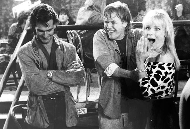 Jeff and Patrick Swayze having fun on set for Roadhouse