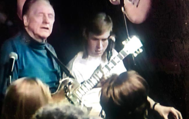 Jeff with the legendary Les Paul